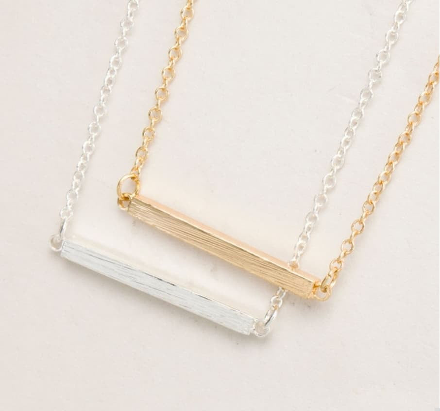 flat horizontal necklace lisaangeljewellery product silver personalised bar original in