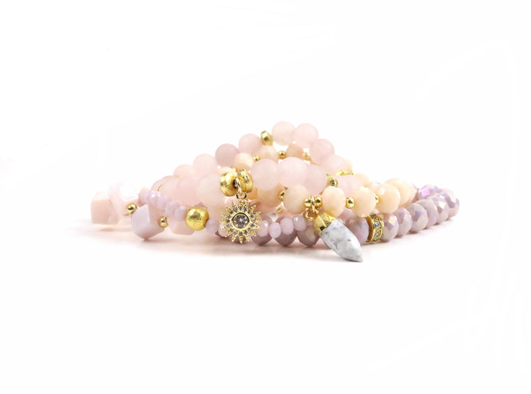 Pastel Lavender Bracelet Set - Made to Layer