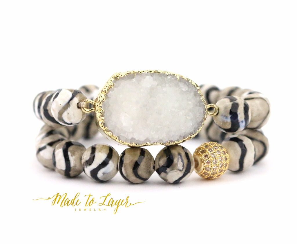 Druzy Bracelet Set - Made to Layer