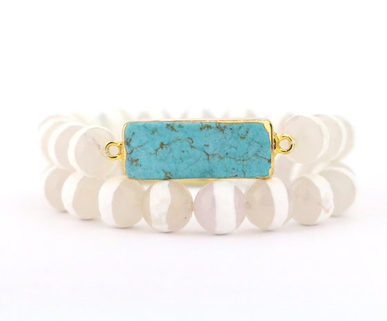 Turquoise Bracelet Set - Made to Layer