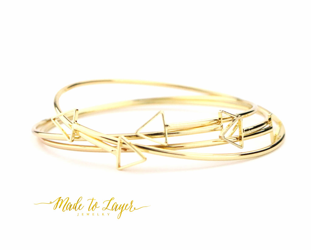Cut Out Arrow Bangle - Made to Layer