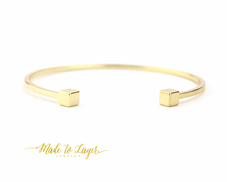Square Bangle - Made to Layer