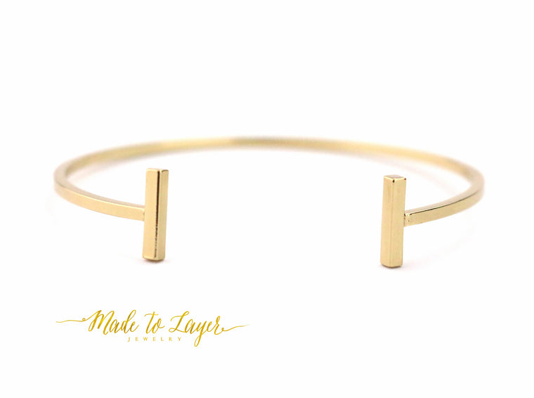 Rectangle Bar Bangle - Made to Layer