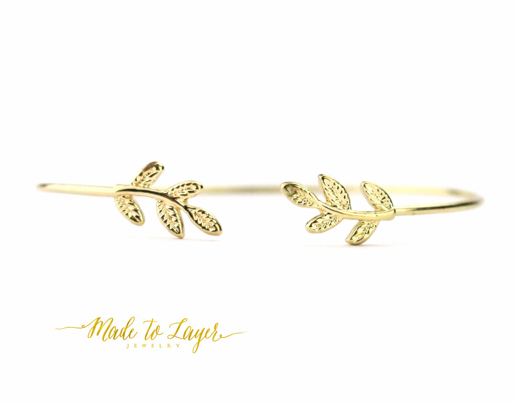 Leaf Bangle - Made to Layer