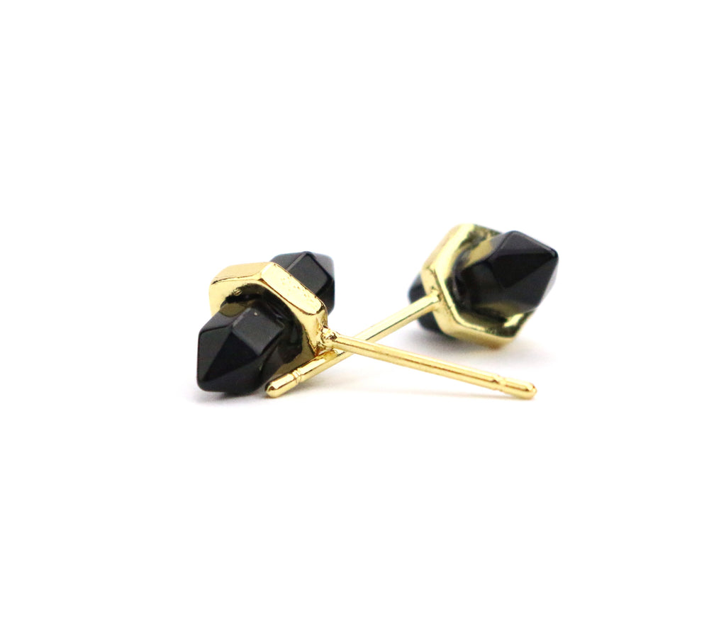 Point Black Onyx Studs - Made to Layer