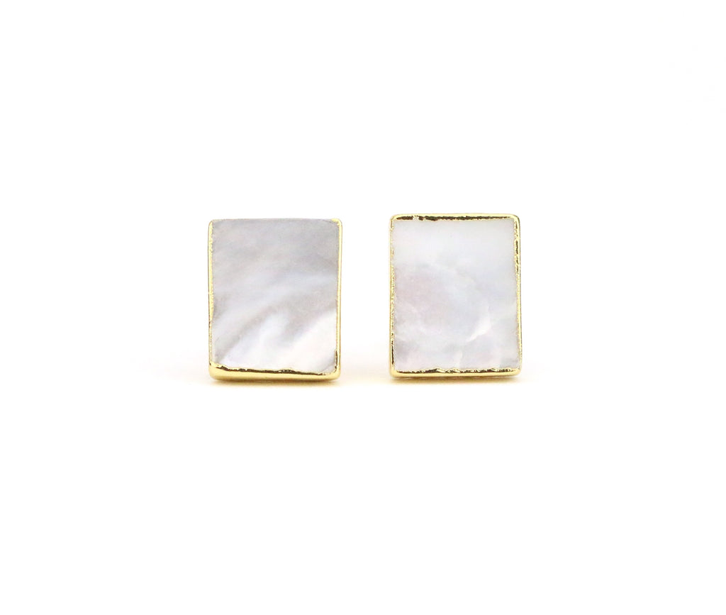 Mother of Pearl Earrings - Made to Layer