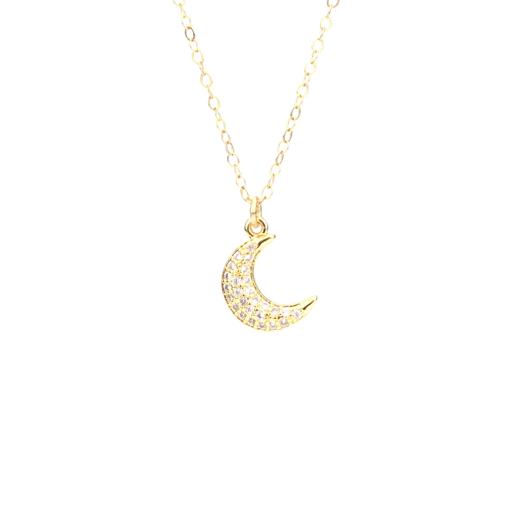 Moon CZ Necklace - Made to Layer