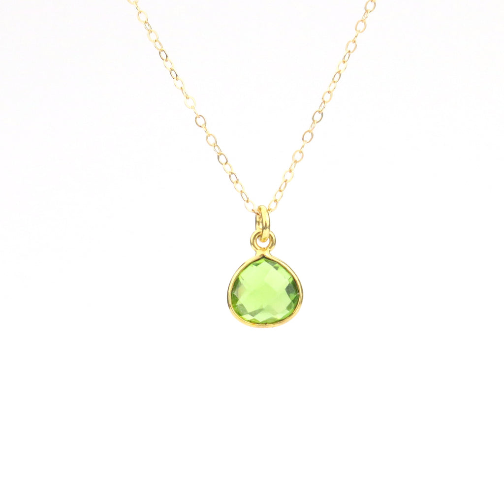 Peridot Necklace (August) - Made to Layer