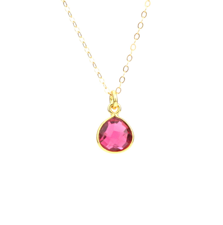 Rose Zircon Necklace (October) - Made to Layer