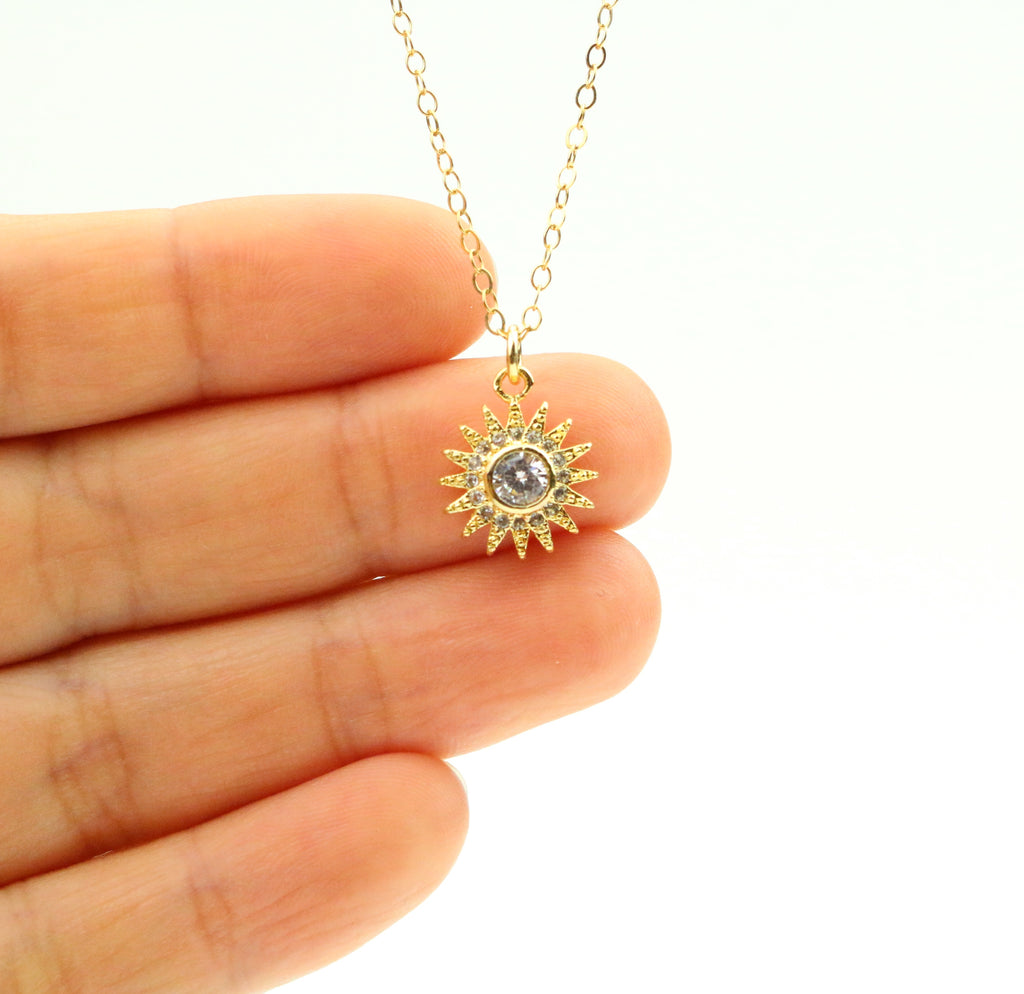 Sun CZ Necklace - Made to Layer