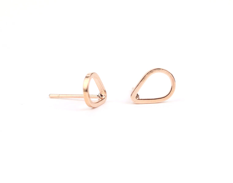 Tear Drop Dainty Studs - Made to Layer