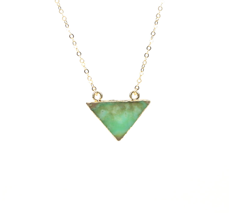 Chrysoprase Necklace - Made to Layer