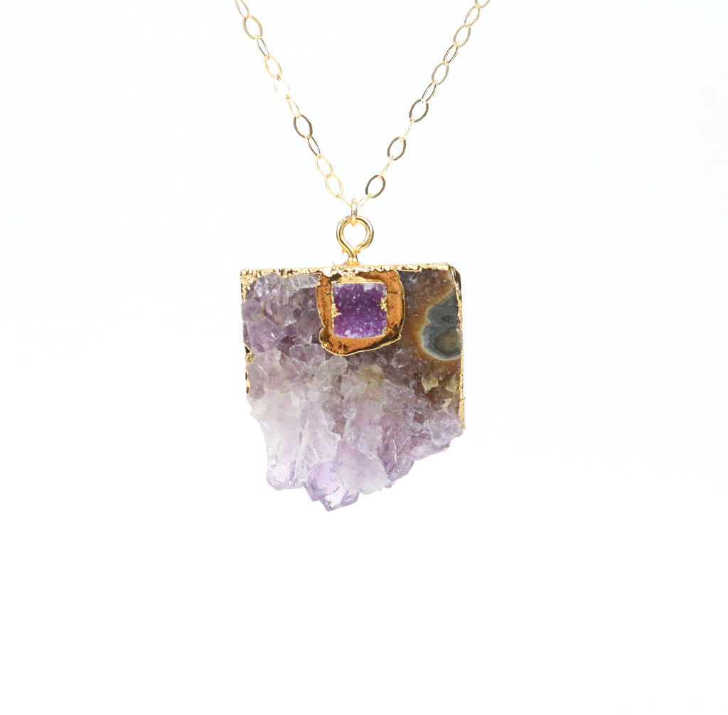 Amethyst  Necklace - Made to Layer