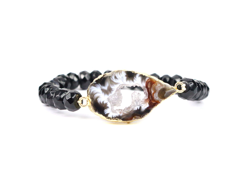 Black Agate Bracelet - Made to Layer