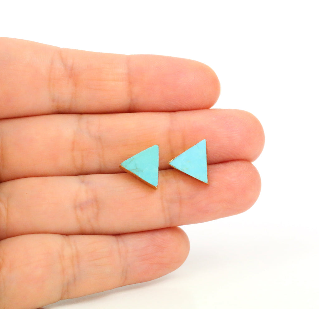 Turquoise Earrings - Triangle - Made to Layer