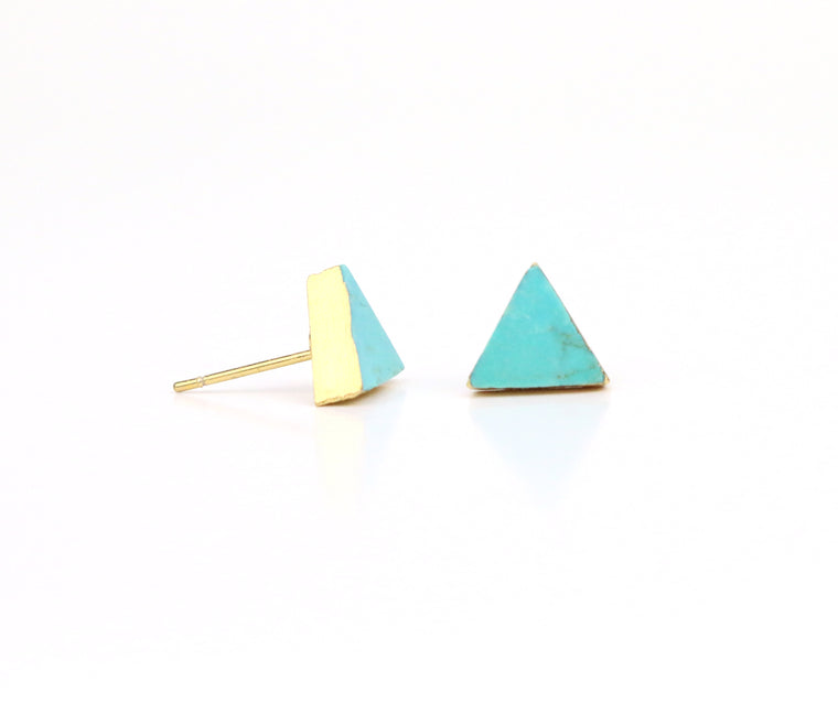 Turquoise Earrings - Triangle