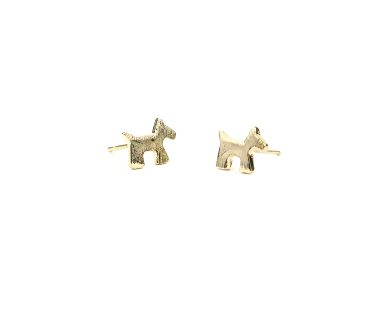 Dog Dainty Studs - Made to Layer