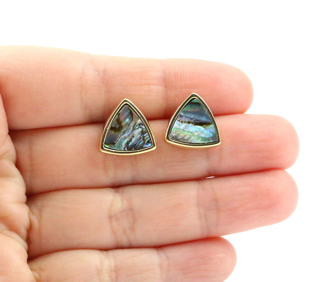 Abalone Shell Stud Earrings - Made to Layer