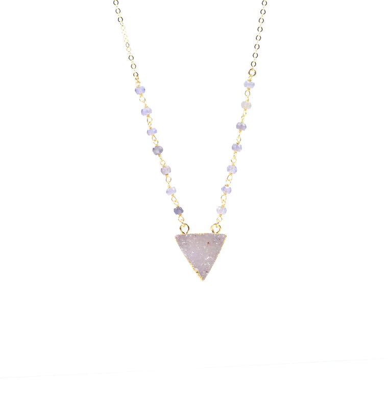 Purple Druzy Necklace - Made to Layer
