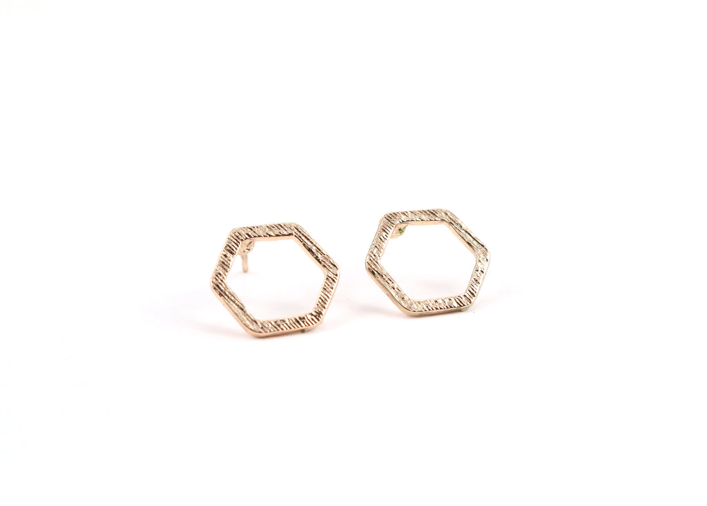Hexagon Dainty Studs - Made to Layer