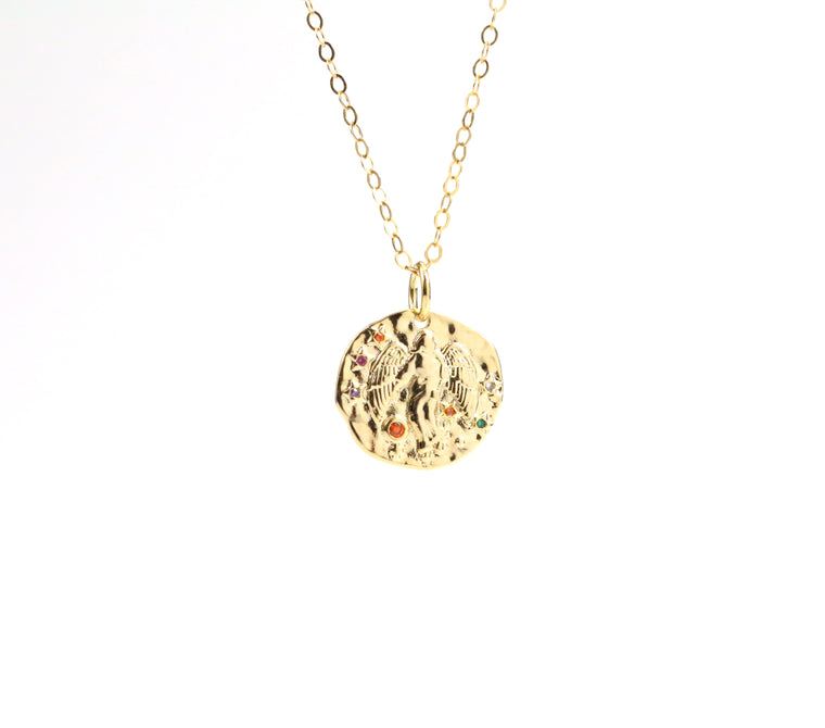 Virgo Zodiac Coin Necklace - Made to Layer