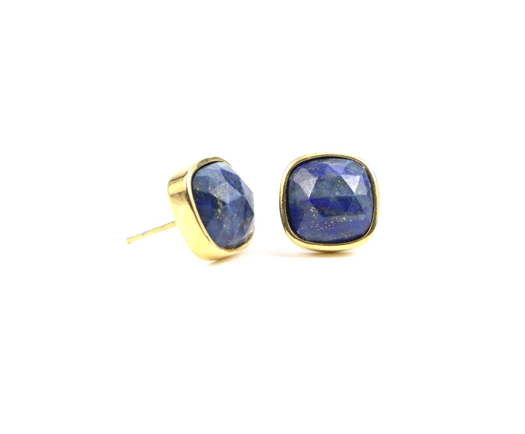 Lapis Lazuli Studs Earrings - Made to Layer