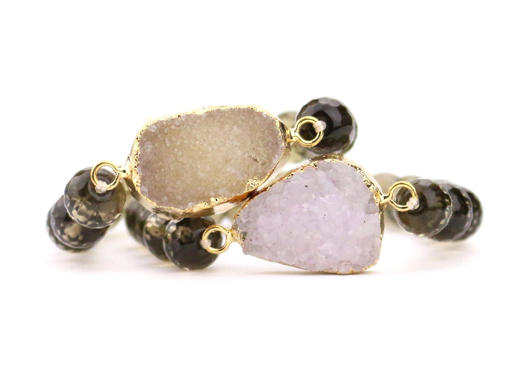Neutral Agate Druzy Bracelet - Made to Layer