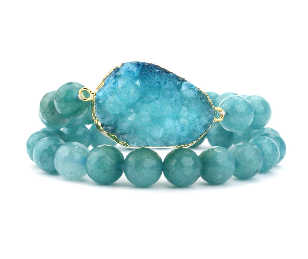Jade Druzy Bracelet Set - Made to Layer