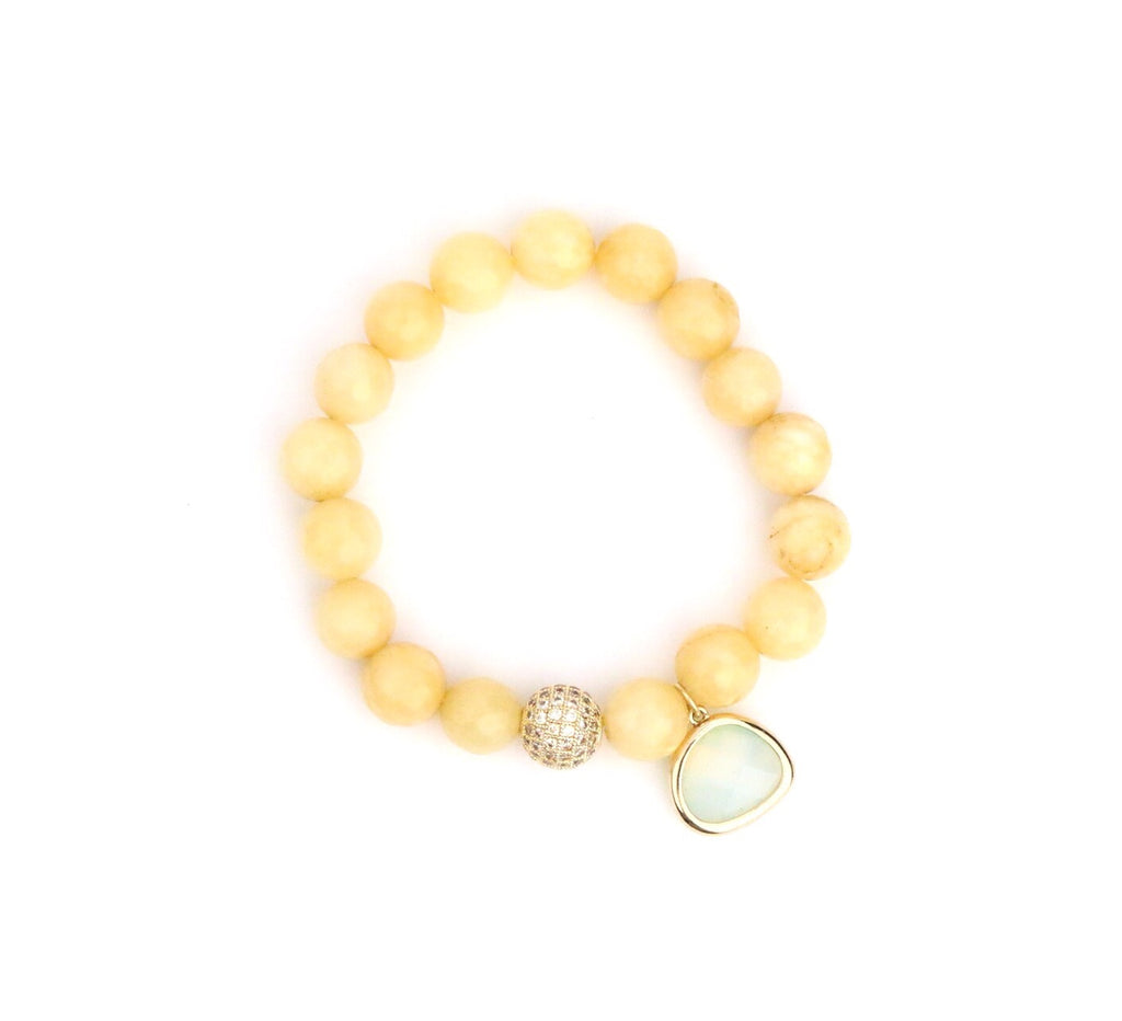 Peachy Opal Crystal Bracelet - Made to Layer