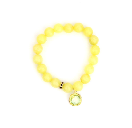 Lemon Crystal Bracelet - Made to Layer