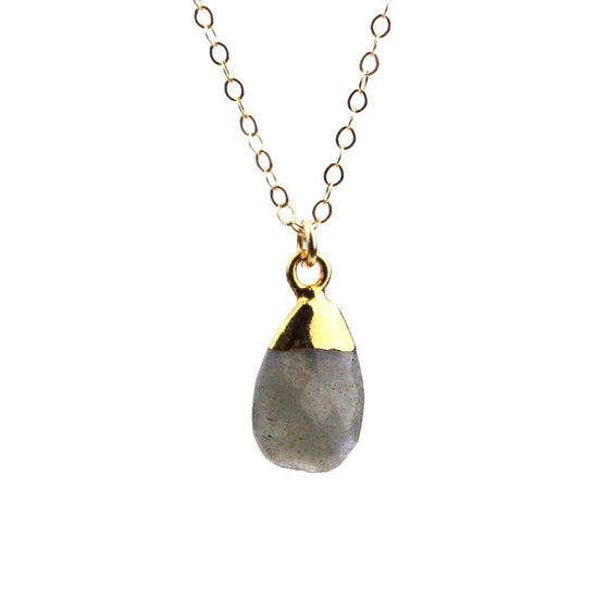 Labradorite Teardrop Necklace - Made to Layer