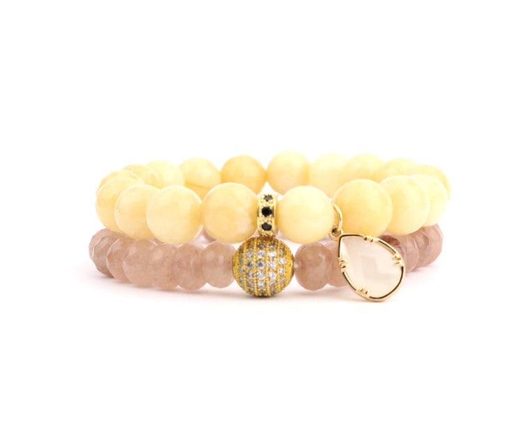 Mustard Mauve Bracelet Set - Made to Layer