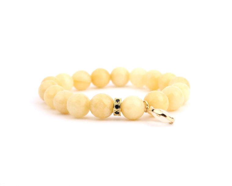 Mustard Jade Crystal Bracelet - Made to Layer