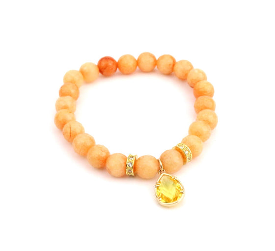 Orange Crystal Bracelet - Made to Layer