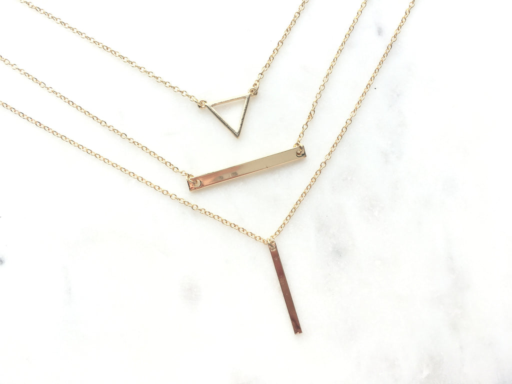 Malene - Multi Layer Dainty Necklace - Made to Layer