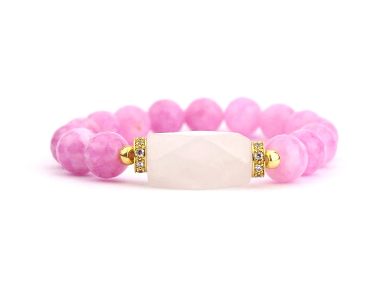 Rose Quartz Bracelet - Made to Layer