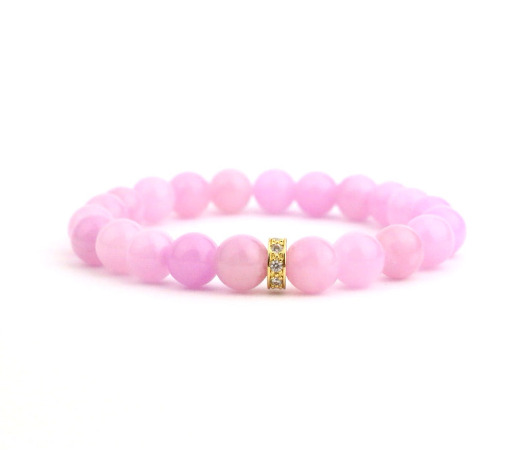 Bubble Pink Jade Bracelet - Made to Layer