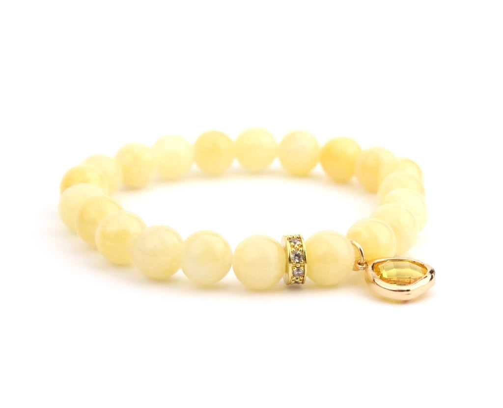 Peachy Lemon Crystal Bracelet - Made to Layer
