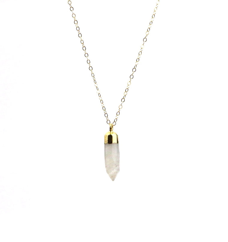 Moonstone Spike Necklace - Made to Layer