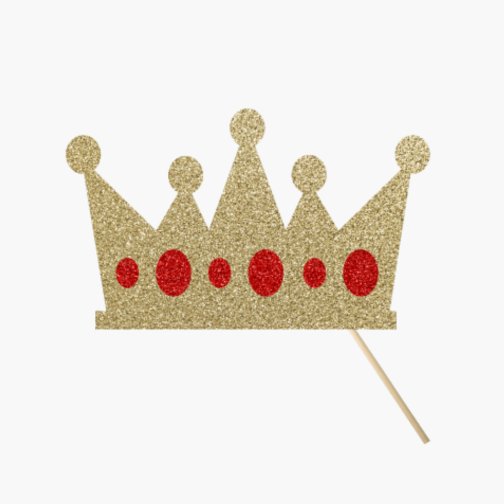 Gold Crown Red Jewels