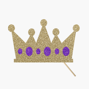 Gold Crown, Purple Jewels