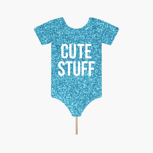 "Blue Onesie ""Cute Stuff"""