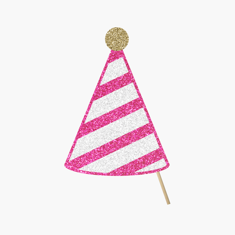 Pink Party Hat, Stripes