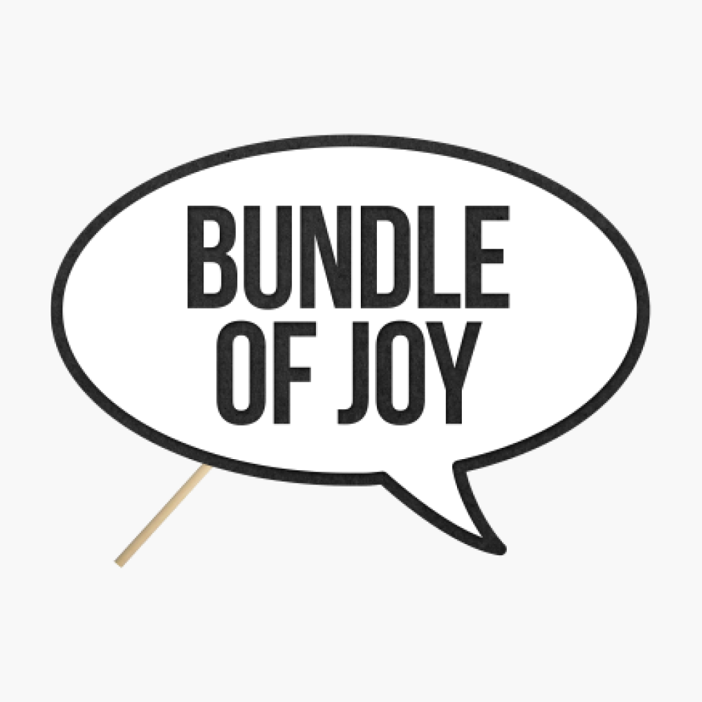 "Speech bubble ""Bundle of joy"""