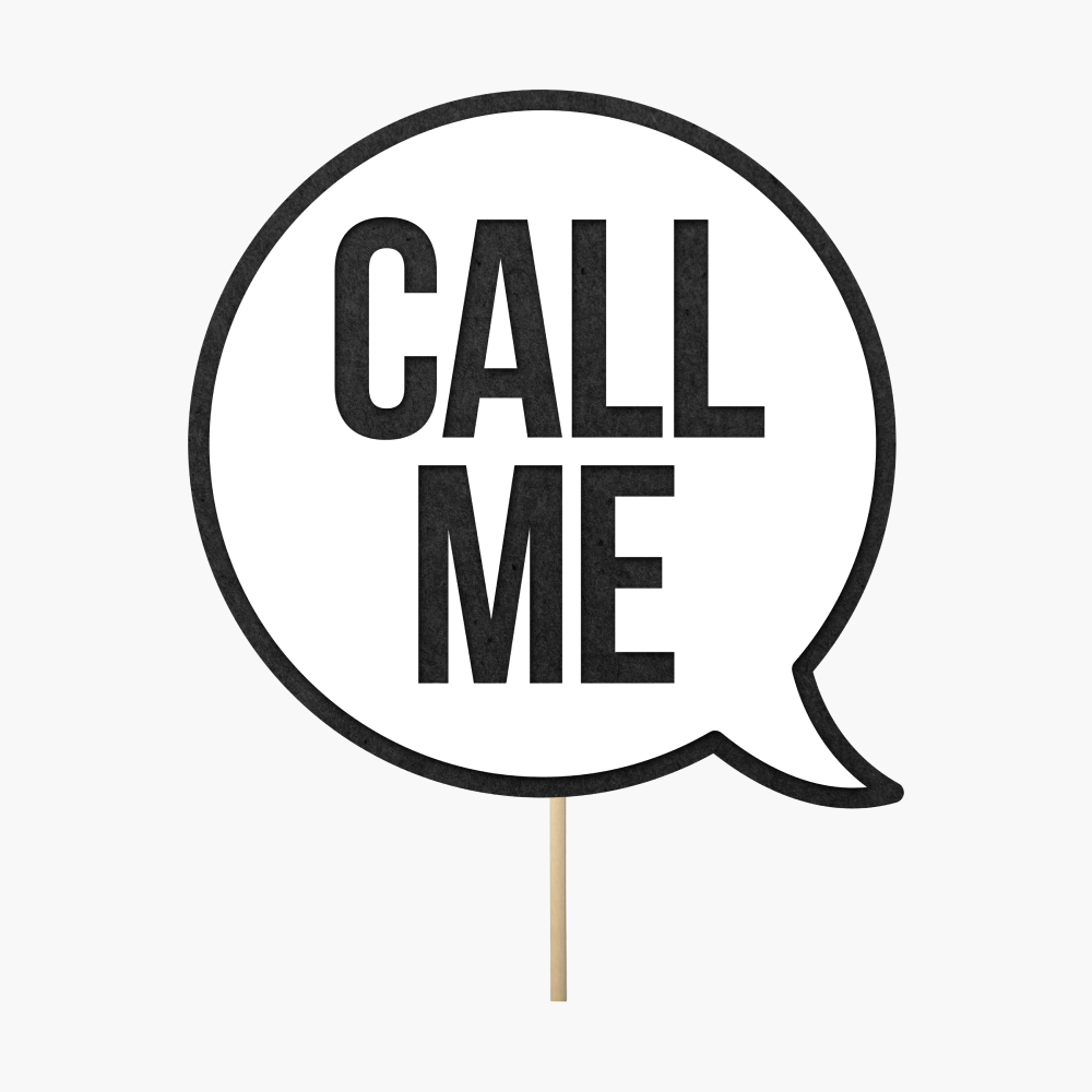 "Speech bubble ""Call me"""