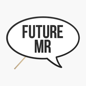 "Speech bubble ""Future Mr."""