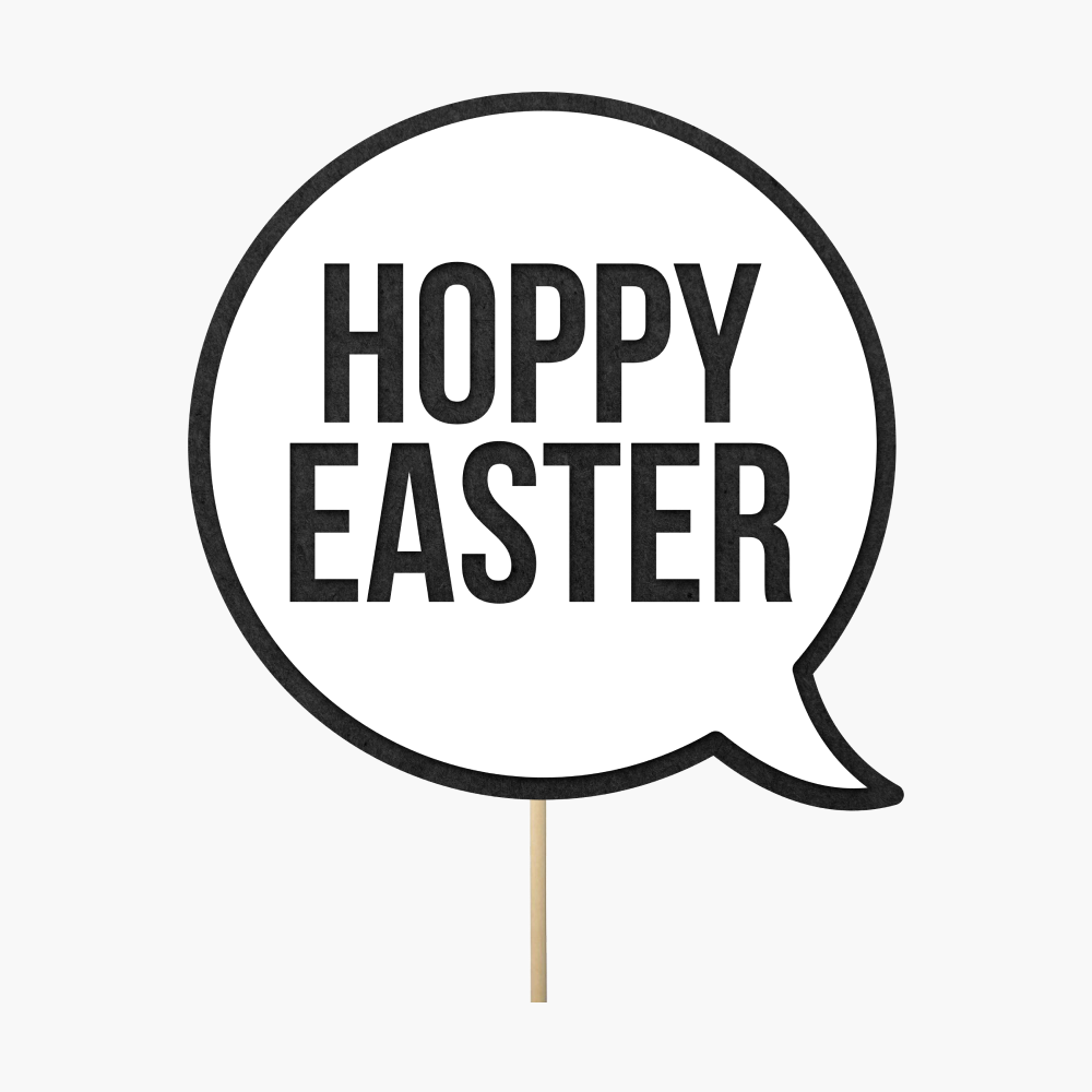 "Speech bubble ""Hoppy Easter"""