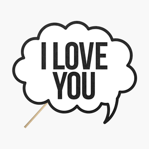 "Speech bubble ""I love you"""
