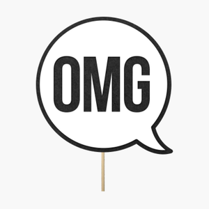 "Speech bubble ""OMG"""