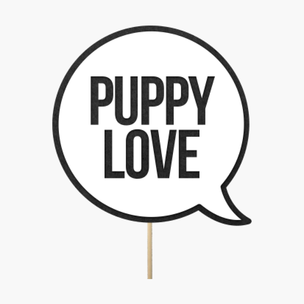 "Speech bubble ""Puppy Love"""
